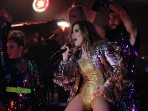 Gloria Trevi en concierto en Cancún