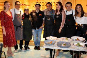 Los invitados disfrutaron de originales cócteles elaborados por los mixólogos de La Fishería