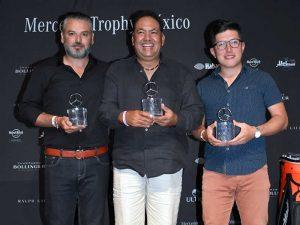 """Pedro López, Jesús Eskauriatza y Bricio Constantino, primero, segundo y tercer lugar categoría """"A"""""""