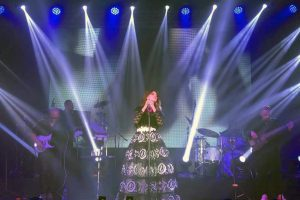 Lucía Méndez arrancó aplausos del publico que abarrotó el lugar